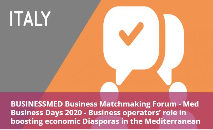 Business Matchmaking Forum - Med Business Days 2020